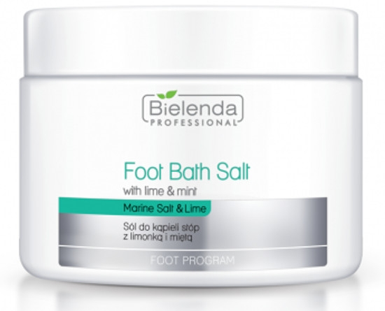Soľ na pedikúru s limetkou a mäta - Bielenda Professional Foot Bath Salt with Lime & Mint