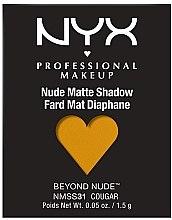 Voňavky, Parfémy, kozmetika Matné tiene na viečka - NYX Professional Matte Shadow Beyond Nude