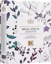 Voňavky, Parfémy, kozmetika Sada - Brazil Keratin Coconut Set (sch/300ml + cond/300ml + oil/100ml)