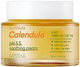 """Voňavky, Parfémy, kozmetika Upokojujúci krém """"Nechtík"""" pre citlivú pokožku tváre - Missha Su:Nhada Calendula pH 5.5 Soothing Cream"""
