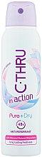Voňavky, Parfémy, kozmetika Dezodorant - C-Thru In Action Pure + Dry Antyperspirant