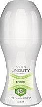 Voňavky, Parfémy, kozmetika Guľôčkový antiperspirant - Avon On Duty Woman Fresh 48h Anti-Perspirant Roll On