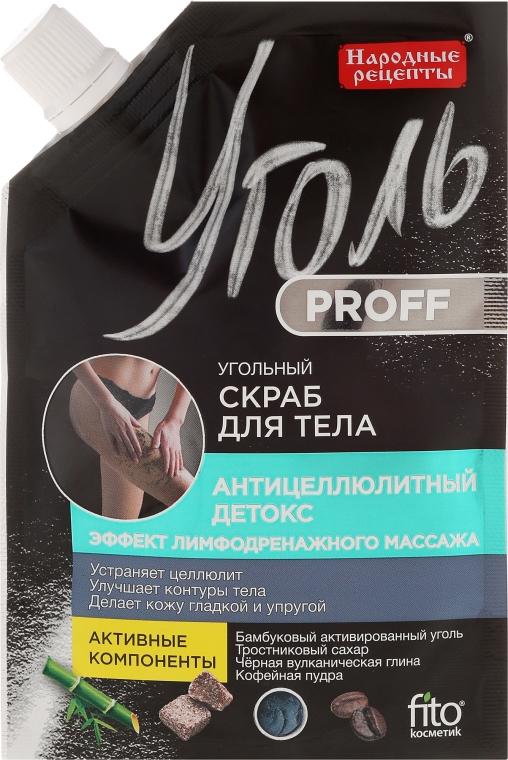 """Uhlíkový scrub na tvár """"Proticelulitídový detox"""" - Fito Kosmetik Ľudové Recepty"""