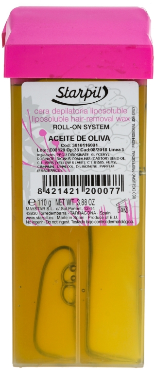 """Teplý vosk v kazete """"Olive"""" - Starpil Wax — Obrázky N1"""