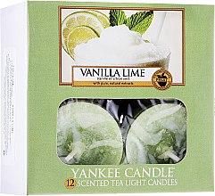 Voňavky, Parfémy, kozmetika Čajové sviečky - Yankee Candle Scented Tea Light Candles Vanilla Lime