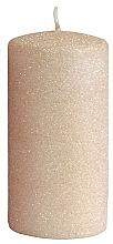 Voňavky, Parfémy, kozmetika Dekoratívna sviečka, ružovo-zlatá, 7x10 cm - Artman Glamour