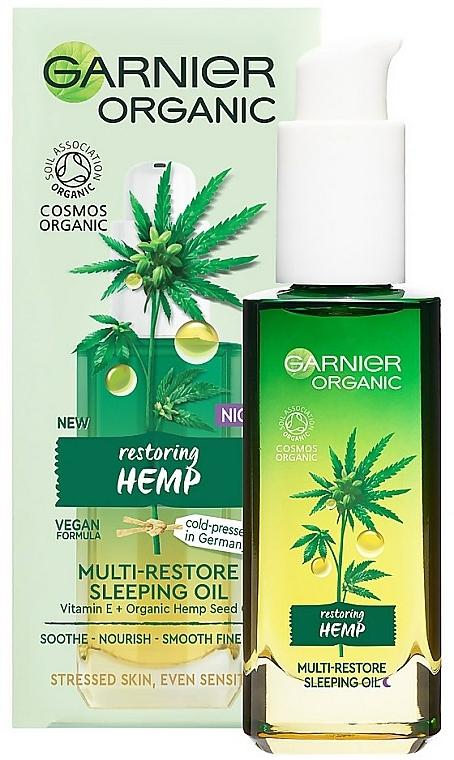 Regeneračný nočný konopný olej - Garnier Bio Multi-Repair Sleeping Oil