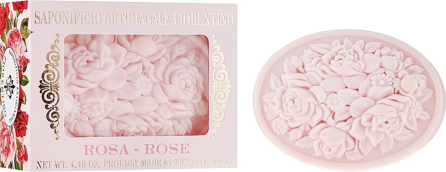"""Prírodné mydlo """"Ruža"""" - Saponificio Artigianale Fiorentino Botticelli Rose Soap"""