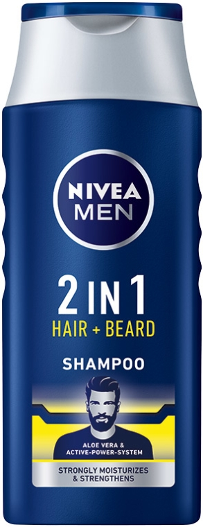 Šampón 2 v 1 pre vlasy a bradu - NIVEA Men 2 in 1 Protect & Care Shampoo