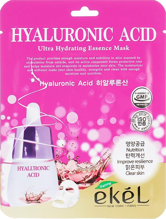 Textilná maska s kyselinou hyalurónovou - Ekel Hyaluronic Acid Ultra Hydrating Essence Mask