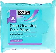Voňavky, Parfémy, kozmetika Čistiace obrúsky na tvár - Beauty Formulas Deep Cleansing Facial Wipes