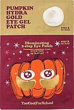 Voňavky, Parfémy, kozmetika Dvojstupňové hydrogélové náplasti s tekvicovým extraktom a koloidným zlatom - Too Cool For School Pumpkin Hydra Gold Eye Gel Patch