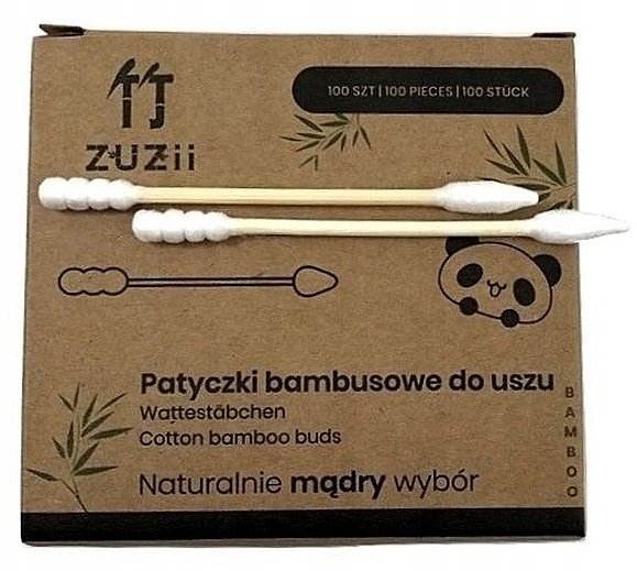 Bambusové vatové tyčinky s rôznymi koncami - Zuzii Bamboo Cotton Buds — Obrázky N2