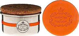 Voňavky, Parfémy, kozmetika Prírodné mydlo - Essencias de Portugal Aluminium Jewel-Keeper With Cork Lid Orange