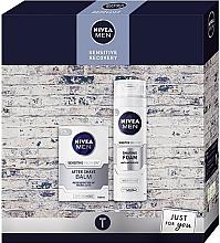 Voňavky, Parfémy, kozmetika Sada - Nivea Xmas Sensitive Recovery 2020 (foam/200ml + balm/100ml)