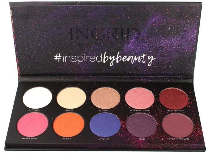 Paleta tieňov na viečka - Ingrid Cosmetics Colors Matt & Glam Palette