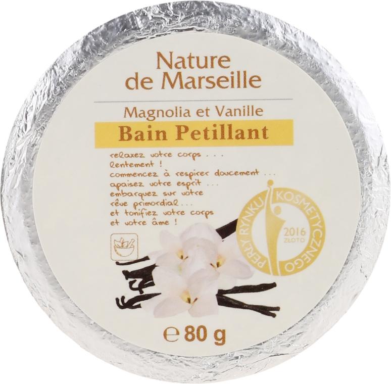 Šumivá bomba do kúpeľa s vôňou magnólie a vanilky - Nature de Marseille Magnolias&Vanilla