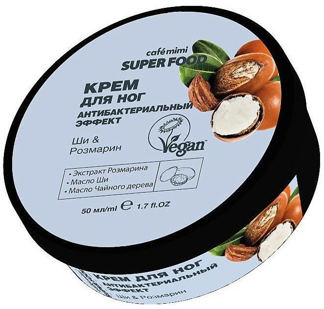 """Antibakteriálny krém na nohy """"Bambucké maslo a rozmarín"""" - Cafe Mimi Super Food"""
