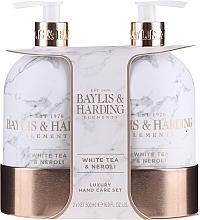 Voňavky, Parfémy, kozmetika Sada - Baylis & Harding White Tea & Neroli Hand Care Set (soap/500ml + h/b/lotion/500ml)