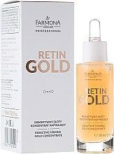 Voňavky, Parfémy, kozmetika Bioaktívny koncentrát zlata na tvár - Farmona Retin Gold Concentrate