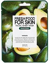 Voňavky, Parfémy, kozmetika Textilná maska na tvár Avokádo - Fresh Food For Skin Facial Sheet Mask Avocado Smoothing