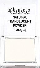Voňavky, Parfémy, kozmetika Transparentný zmatňujúci púder na tvár - Benecos Natural Translucent Powder Mission Invisible