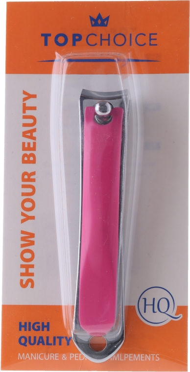 Kliešte na nechty 77630, L, ružový - Top Choice Colours Nail Clippers