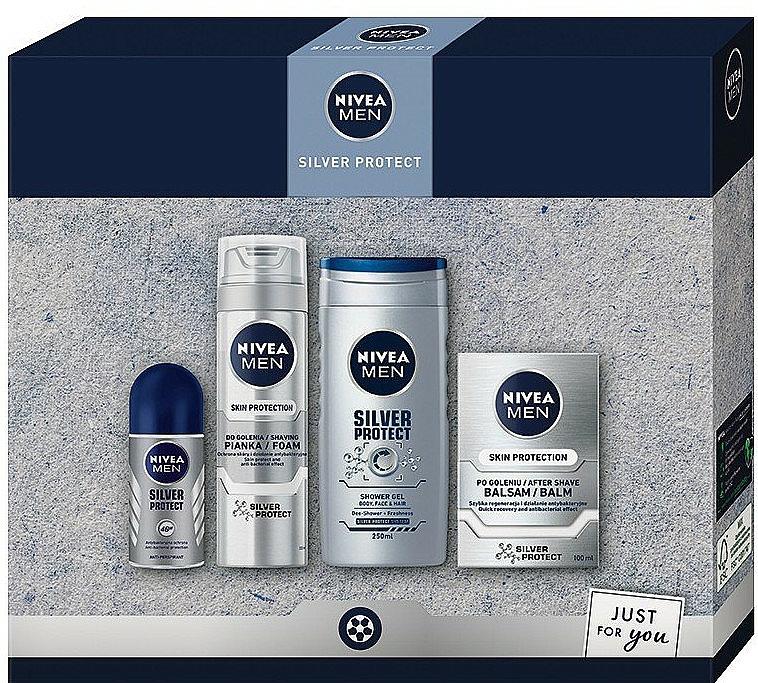Sada - Nivea Men Silver Protect 2020 (balm/100ml + foam/200ml + shower/gel/250ml + deo/50ml)