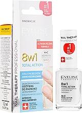 Voňavky, Parfémy, kozmetika Prostriedky na obnovenie nechtov 8v1 - Eveline Cosmetics Nail Therapy Total Action 8 in 1