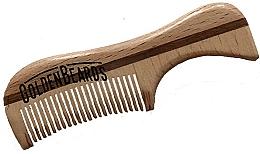 Voňavky, Parfémy, kozmetika Hrebeň na bradu z eko dreva, 9,5 cm - Golden Beards Eco Moustache Comb