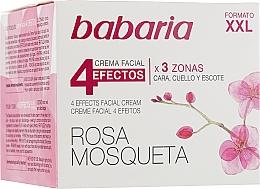 """Voňavky, Parfémy, kozmetika Omladzujúci krém na tvár a krk """"4 efekty"""" - Babaria Rosa Mosqueta 4 Effects Facial Cream"""