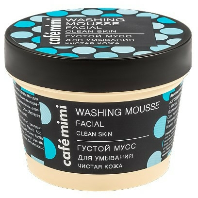 "Hustá umývacia pena ""Čistá pokožka"" - Cafe Mimi Washing Mousse Facial Clean Skin"