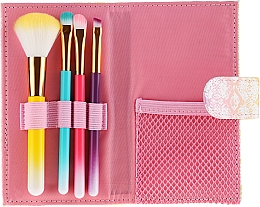 Voňavky, Parfémy, kozmetika Sada farebných štetcov na make-up, v puzdre, 4 ks - Avon