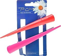 Voňavky, Parfémy, kozmetika Klipsy do vlasov, 25136, ružová a červená - Top Choice