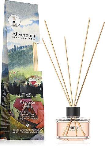 """Aromatický difúzor """"Rajské jablko z Podhalia"""" s paličkami - Allverne Home & Essences Diffuser"""
