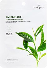 Voňavky, Parfémy, kozmetika Textilná maska s extraktom zeleného čaja - Beauugreen Antioxidant Green Tea Essence Mask