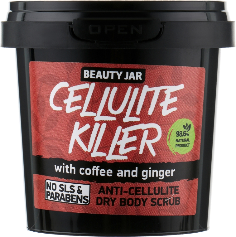 "Peeling na telo anticelulitída ""Cellulite Killer"" - Beauty Jar Anti-Cellulite Dry Body Scrub"