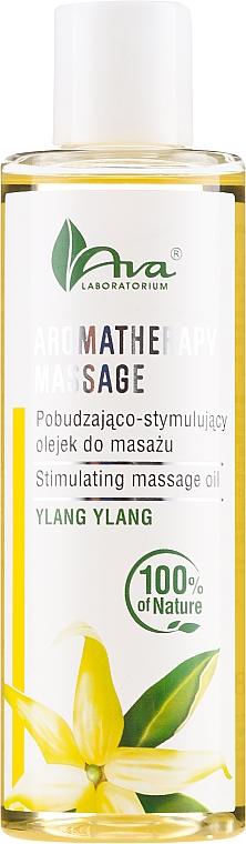 Stimulujúci masážny olej Ylang Ylang - Ava Laboratorium Aromatherapy Massage Stimulating Massage Oil Ylang-Ylang
