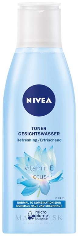 Osviežujúce tonikum pre normálnu a kombinovanú pleť - Nivea Visage Refreshing Toner — Obrázky 200 ml