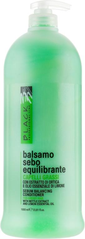 Sebo regulačný balzam na mastné vlasy - Black Professional Line Sebum-Balancing Conditioner