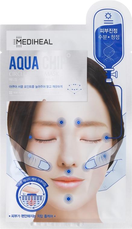 Upokojujúca maska pre tvár - Mediheal Aqua Chip Circle Point Mask