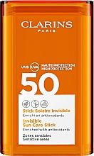 Voňavky, Parfémy, kozmetika Tyčinka pre citlivé oblasti tváre s SPF ochranou - Clarins Stick Solaire Invisible SPF50