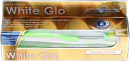"""Voňavky, Parfémy, kozmetika Sada """"Pre fajčiarov"""", svetlozelená kefka - White Glo Smokers Formula Whitening Toothpaste (toothpaste/100ml + toothbrush)"""