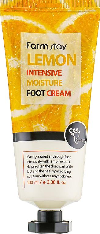 Krém na nohy s citrónovým extraktom - FarmStay Lemon Intensive Moisture Foot Cream