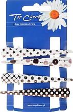 Voňavky, Parfémy, kozmetika Sponky do vlasov, 25099, čierno-biele - Top Choice
