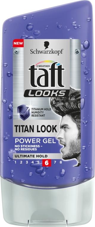 Gél na vlasy - Schwarzkopf Taft Looks Titan Look Extreme Gel Radically Strong — Obrázky N1