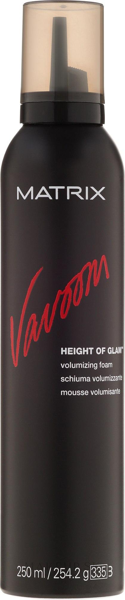 Mušt na vlasy pre ich objem - Matrix Vavoom Height Of Glam Volumizing Foam  — Obrázky 250 ml