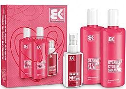 Voňavky, Parfémy, kozmetika Sada - Brazil Keratin Dtangler Cystine (sh/300ml + balm/300ml + spray/100ml)