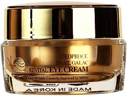 Voňavky, Parfémy, kozmetika Očný krém so slimačím mucínom - Deoproce Snail Galac-Tox Revital Eye Cream