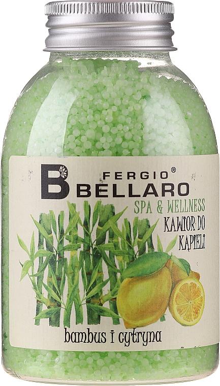 """Zjemňujúce guľôčky do kúpeľa """"Bambus a citrón"""" - Fergio Bellaro Bamboo and Lemon Bath Caviar"""
